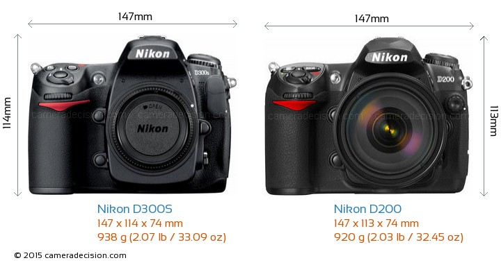 Nikon-D300S-vs-Nikon-D200-size-comparison