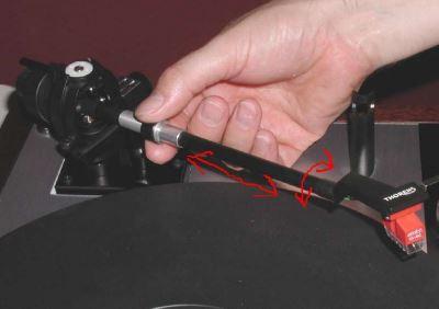 tonearm bearings play